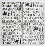 4 Ceramic Coasters in Emma Bridgewater We Three Kings Black